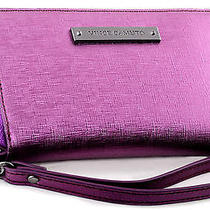 Nwt Vince Camuto Vivi Leather Zip Around Wristlet Indexer Wallet Purple Potion Photo