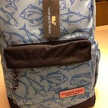 Nwt- Vineyard Vines Big Game Preppy Backpack With Laptop Sleeve Blue Photo