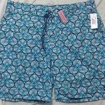 Nwt Vineyard Vines Board Shorts Swim Trunks Scallop Shell Blue Finch 40 Photo