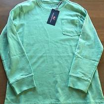 Nwt Vineyard Vines Boys Long Sleeve Whale Pocket T Shirt Hammock Green Size 7 Photo