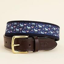 Nwt Vineyard Vines Canvas Club Belt Political Donkey Size 38 L Xl Retail 49.50 Photo
