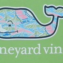 Nwt Vineyard Vines Men's M Beach Hut Whale T-Shirt Tee Lime Ice Srp 42 Photo