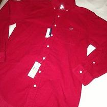 Nwt Vineyard Vines Mens Tucker Whale Button Down Corduroy Shirt S Red Photo