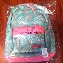Nwt Vineyard Vines Pink and Blue Backpack Bookbag New Photo