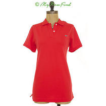 Nwt Vineyard Vines Shoreline Polo Henley Flame Red Preppy Top S Small B2 Photo
