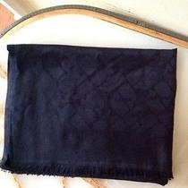Nwt Vineyard Vines Women's Black Silk Blend Scarf With Whale Print Size O/s Photo