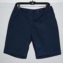 Nwt Vineyard Vines Womens Solid Navy Blue Shorts Dayboat Bermuda Size 6 Photo