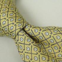 Nwt Vineyard Vines Yellow White Golf Clubs Balls 100% Silk Tie Usa Shep Ian New Photo