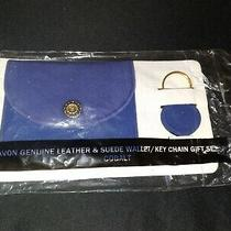 Nwt Vintage Avon Leather Wallet and Keychain Photo