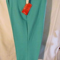 Nwt Vintage Love Letter Aqua Pull on Polyester Pants Size 24w Photo
