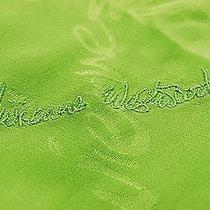 Nwt Vivienne Westwood Scarf Logo Silk 100% Green Made in Japan  Photo