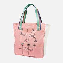 Nwt Volcom My Little Tote Love Hate Bag Pink Arrows  Photo