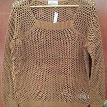 Nwt Wallace by Madewell Brown See Through Sweater Sz M  Photo