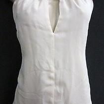 Nwt Waverly Grey Sz M Beige & Copper Silk Nora Color Block Halter Top 70346f Photo