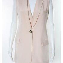 Nwt Wayne Blush Pink Silk v Neck Button Front Sleeveless Vest Dress Suit Sz 4 Photo