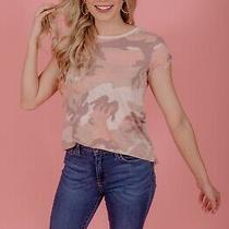 Nwt We the Free People Clare Blush Combo Pink Camo Tee Shirt Top Sz Xs Photo