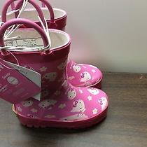 Nwt Western Chief Girls Hello Kitty Dance Rain Boots 5/6 Pink Photo