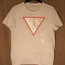 Nwt White Short Sleeve Graphic T-Shirt From Guess Size Large Photo