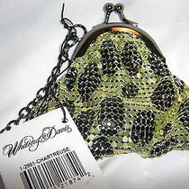 Nwt Whiting & Davis Leopard Animal Key Ring Coin Purse Unique Rare Collectable Photo