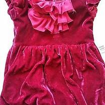 Nwt Wine Color Velour Dkny 2t Dress Photo