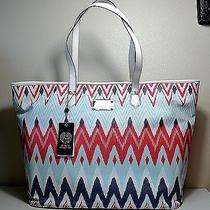 Nwt Woman Vince Camuto Vivi Zig Zag Eggnog Shoulder Bag Tote Purse Photo