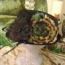 Nwt Women Fedora Black Hat & Cc Logo Scarf Beige Brn Church Chanel Allure Osfm   Photo