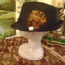 Nwt Women Fedora Black Hat Cc Logo Scarf Beige Brown Church Chanel Allure Osfm   Photo
