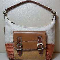Nwt Women Fossil Orange Multi Tate Small Hobo Bag Purse Zb5651815 Photo