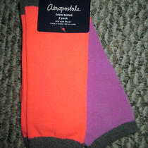 Nwt Women's Aeropostale Bright Colors Crew Socks 2 Pairs One Size Fits All Photo