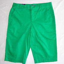 Nwt Women's Bandolino Ivette Green Clover Bermuda Shorts Size 8 Photo
