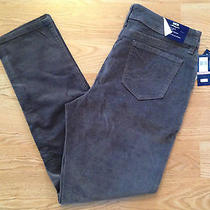 Nwt Women's Bandolino Lucie Chrome Gray Corduroy Stretch Skinny Jeans Size 12 Photo