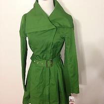 Nwt Women's Bcbg Belted Skirt Coat Xs Clover Photo