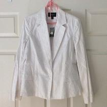Nwt Women's Beautiful Express White Embroidered Jacket Photo