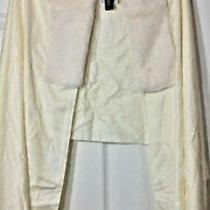 Nwt Womens Bebe Ivory White Faux Fur Collar Shawl  Photo