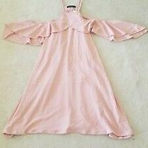 Nwt Women's Blush Pink Cold Shoulder Dress or Long Top by Daylight - Size Large Photo