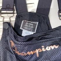 Nwt Women's Champion Jumpsuit Overalls Jumper Suit Black Rose Gold Sz Xl Photo