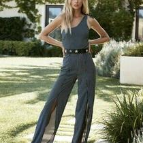 Nwt Womens Eberjey One Shoulder Jumpsuit Black Small Photo