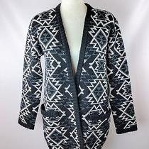 Nwt Women's Element Randy Sweater 70 S Cardigan Black Charcoal White Knitted  Photo