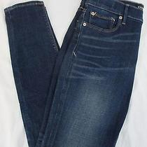 Nwt Women's Express Jeans Dark Wash Faded Legging Midrise Size 10r (579) Photo