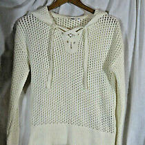 Nwt Womens Gap Hooded Sweater With Front Lace-Up Size Small Photo