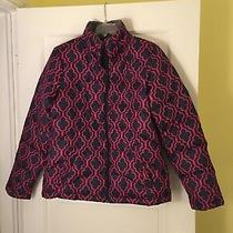Nwt Women's Goose Down Navy Pink Design Lands End Jacket Size S Small 6-8 Photo