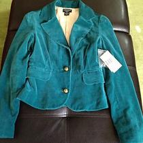 Nwt Women's Guess Vintage Blazer - Xs - Teal - Retails for 98 Photo
