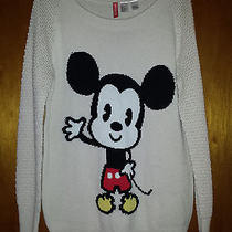 Nwt Women's h&m Baby Mickey Sweater Us 8  Photo