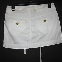 Nwt Women's/juniors Sz 0 White Cotton Mini Skirt - Express - 49.50 Photo