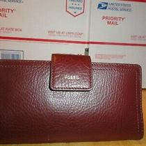 Nwt Women's Logan Fossil Leather Tab Cluth Wallet Photo