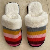 Nwt Women's Love by Gap Crazy Stripe Slippers Nwot Size Small (5-6 or 35.5-36.5) Photo