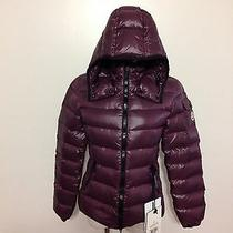Nwt Women's Moncler Bady Lacquer Hooded Short Down Jacket Size 0 Dark Berry Photo