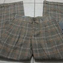 Nwt Women's Mossimo Modern Fit Wide Leg Tweed Pants 2 Photo