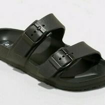 Nwt Women's Neida Eva Two Band Slide Sandals Size 11 - Shade & Shore Shoes Black Photo