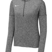 Nwt Women's Nike Dry Element 1/2 Zip Running Pullover M Heather Gray 897021-011 Photo